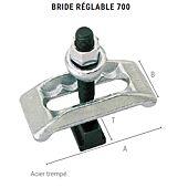 Bride réglable 700 avec vis et écrou image