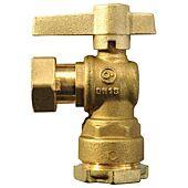 Vanne compteur équerre - Laiton - Ecrou tournant/Rac serrage ext PE -  Manette laiton image