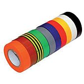 Ruban adhésif PVC pour cable électrique - L 15mm - Long 10m image