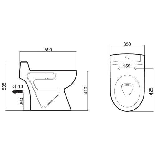 Cuvette WC broyeur intégré Ancoflow en céramique blanc image