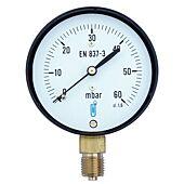 Manomètre gaz avec protection antichoc - raccord vertical 8x13 - cadran Ø63mm image