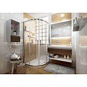 Paroi de douche arrondie - semi cadré Ancoswing - L 900mm accès 540 image