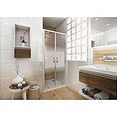 Porte de douche à 2 battants Ancoswing - L900 H1,90m - accès 675mm image