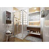 Porte de douche pivotante Ancoswing - L800 H1,90m - accès 520mm image