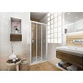 Porte de douche 3 vantaux coulissants Ancoswing - profilé blanc - ep 3mm image