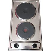 Domino de cuisson électrique 2 feux pour kitchenette 510x288mm image