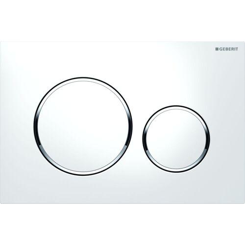 Plaque de commande WC Sigma 20 - blanc contour chrome image