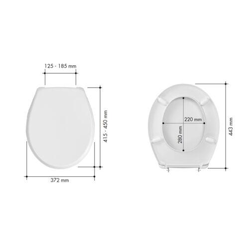Abattant WC Ancoflash - résine thermodur blanc image