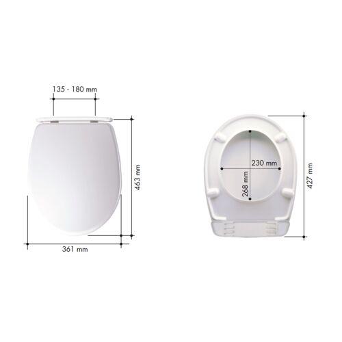 Abattant WC Capitole - résine thermodur blanc image
