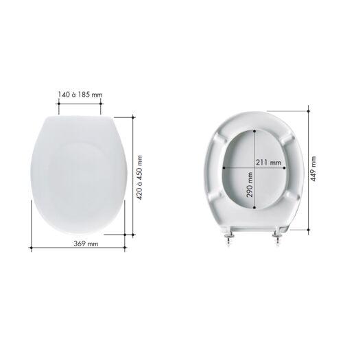 Abattant WC Capitole 2 - résine thermodur blanc - collectivité image