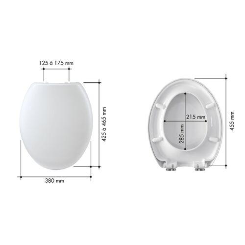 Abattant WC Ancozen - polypropylène blanc - frein de chute image