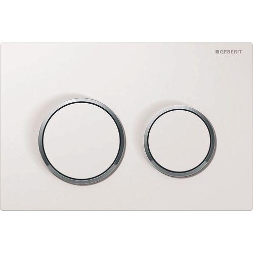 Plaque de commande WC Omega 20 - blanc contour chrome image