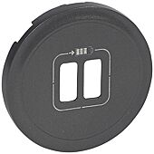 Enjoliveur Céliane - Graphite-Pour Chargeur double USB image