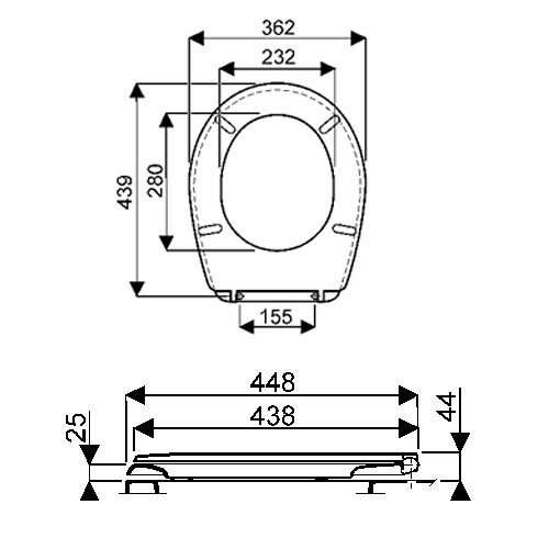 Abattant WC standard Bastia Blanc image