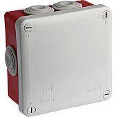 Boite IP55 de dérivation étanche à fond rouge 960°C Dim.105X105X55 image
