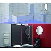 Panneau de douche blanc décofast pack standard - 2000x900 image