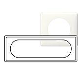 Plaque Céliane - Blanc - 3 postes étendus à 6/8 modules image