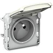 Prise de courant étanche 2P+T Plexo composable IP55 16A 250V - blanc image