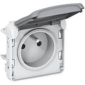 Prise de courant étanche 2P+T Plexo composable IP55 16A 250V - gris image