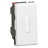 Interrupteur ou va-et-vient à voyant 10AX 250V Mosaic Easy-Led 1 module - blanc image