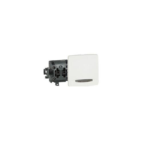 Poussoir composable à voyant saillie - Blanc image