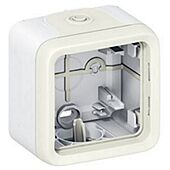 Boitier étanche Plexo composable Blanc 1 poste image