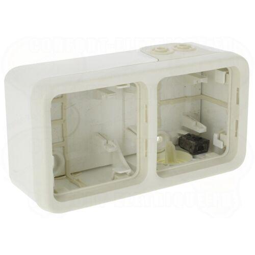 Boitier étanche Plexo composable Blanc 2 postes horizontal image