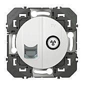 Prise télévision+RJ45 compacte Dooxie - Blanc image