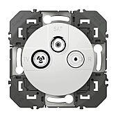 Prise TV-R-SAT 1 câble dooxie finition blanc image