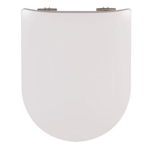 Abattant WC double Wood Slim à descente assistée - blanc image