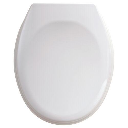 Abattant WC double - résine thermodur à charnière Inox - blanc image