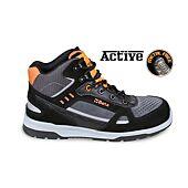 Chaussure de sécurité montante - croûte de velours - Gris/Orange image
