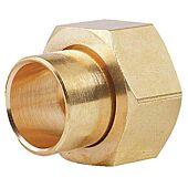 Manchon fer cuivre droit 2p F-douille laiton +joint - 359GCU image