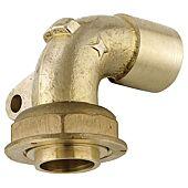 Raccord gaz coudé 90° avec patte fixation à joint plat à braser cuivre image