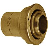 Raccord compteur gaz 2 pièces droit à joint plat - à souder cuivre image