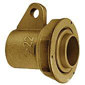 Raccord gaz avec patte fixation 2 pièces droit à joint plat à braser cuivre image