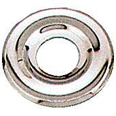 Rosace sanitaire plate mourlurée - chrome image