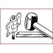 Jeu d'outils pour démontage de charnières de porte, 4 pièces image