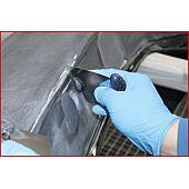 Spatule inox manche court, 75 x 113 mm image