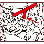 Clé pour galets tendeurs - Fiat image
