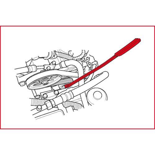 Clé 6 pans 8 mm pour embrayage de ventilateur et de poulie, spécfique Mercedes image