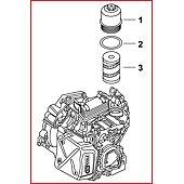Clé pour filtre à huile de boite de vitesses DSG, 1/2'' - 24 mm - L.136 mm image