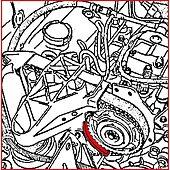 Outil de blocage de douille de pompe à injection - Renault 1.9 Dti image