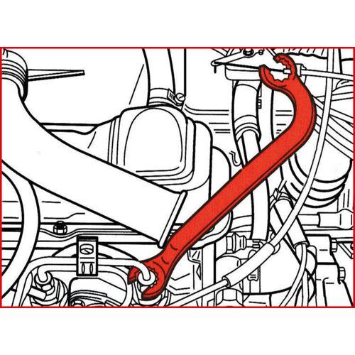 Clé ouverte 12 pans 17x17 mm pour conduites d'injection image