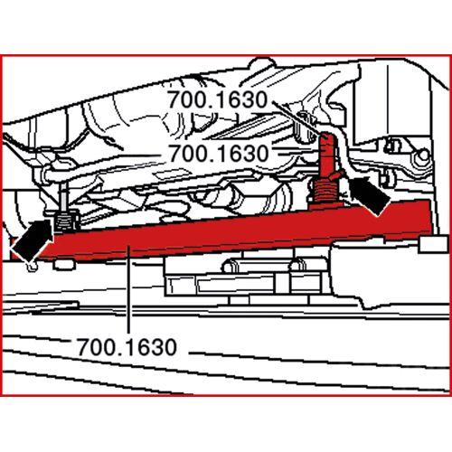 Set de guide de mesures d'axes pour VAG, 13 pièces image