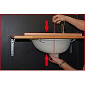 Kit de montage de lavabos à une personne, 2 pcs. image