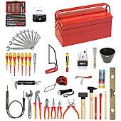 Composition d'outils électricien en caisse métallique - 137 pièces image