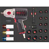 Module de douilles et clé à chocs pneumatique 1/2'', 20 pièces image