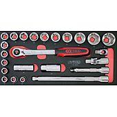 Module de douilles et accessoires ULTIMATE® 1/2'', 24 pièces image