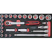 Module de douilles et accessoires ULTIMATE® 1/2'' en pouces, 24 pièces image